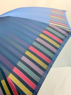 傘レディース雨傘長傘婦人甲州産先染朱子格子12本骨手開日本製国産品ファッション雑貨女性用コーデ雨具雨