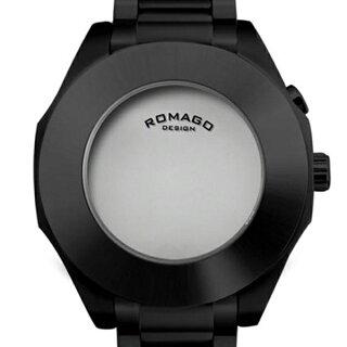 腕時計メンズ正規品ROMAGOロマゴオールステンレスミラー文字盤RM003-1513SS-BKメンズ腕時計