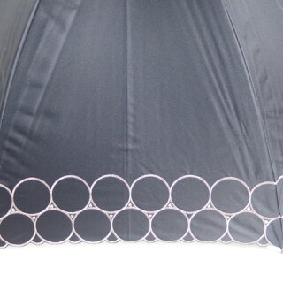 日傘レディース傘晴雨兼用99.99%遮光効果遮熱効果スライドショートドビー1級遮光生地リング刺繍雨傘ファッション雑貨女性用コーデ日焼け対策