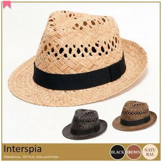期間限制帽子男士帽子紫外線保護成人設計拉菲草浮水印優雅男士服裝 * 福