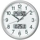 掛け時計 メンズ レディース 時計 セイコー 電波掛時計 カレンダー 温度 湿度表示つき KX383S