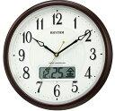 掛け時計 メンズ レディース 時計 リズム 電波掛時計 ピュアカレンダー M03SR 4FYA03SR03