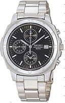 腕時計メンズ海外セイコー1/20クロノウォッチSND191黒文字盤メンズ腕時計セイコー