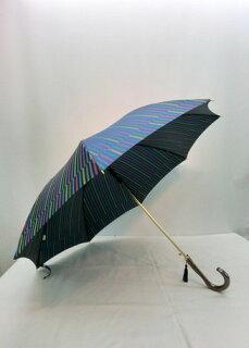 傘レディース日本製雨傘長傘婦人甲州産先染朱子格子織生地軽量金骨ジャンプ傘ファッション雑貨女性用コーデ雨具雨