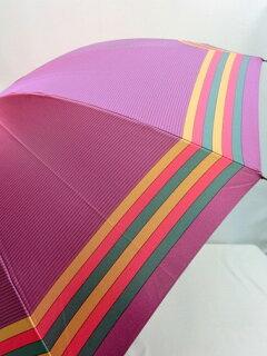 傘レディース雨傘長傘婦人甲州産先染朱子格子12本骨手開日本製国産品ファッション雑貨女性用雨具雨