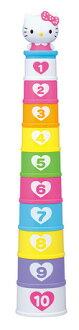 限期供應玩具小孩嬰兒HelloKitty Hello Kitty杯子塔訓練玩具玩具玩具 ※fu