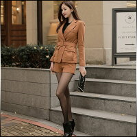 パンツスーツレディーススーツジャケットテーラード無地ショートパンツ脚長効果美脚効果きれいめカジュアルレディースファッション