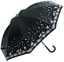 3日間限定 ポイント2倍 傘 レディース UVカット率99% 晴雨兼用 ネコ 葉っぱ ファッション雑貨 日傘 女性用 日焼け対策