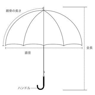 傘レディース晴雨兼用傘長傘ドット刺繍ファッション雑貨日傘女性用日焼け対策