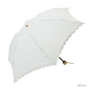 傘レディース晴雨兼用傘折傘ドット刺繍ミニファッション雑貨日傘女性用日焼け対策