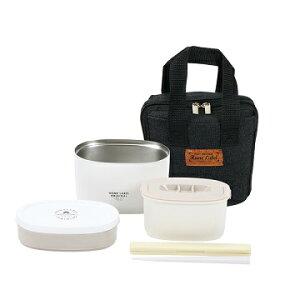 保温 弁当箱 ステンレス スリムランチジャー 680 バッグ付 ホワイト ホームレーベル HB-5445 パール金属