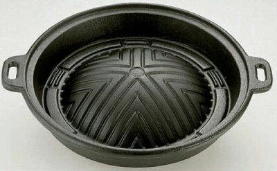 野菜を沢山焼いても大丈夫な深さ約4cmの深型仕様ジンギスカン鍋!【送料無料】鉄製ジンギスカン...