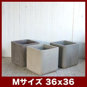 コルテス キューブ 36  ≪植木鉢/ラフ/セメントプランター/大型/モダン≫