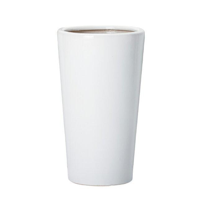 ルッカ PR3 ツヤ Mサイズ   ≪植木鉢/陶器鉢/白黒磁器系≫
