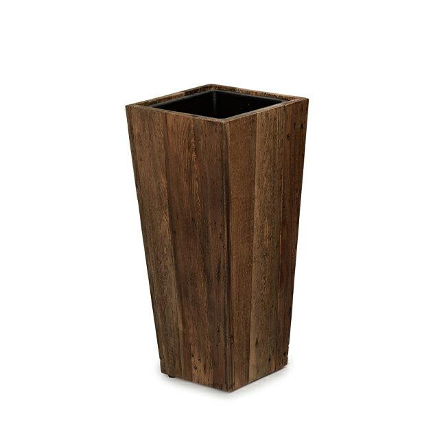 リサイクル・ウッド スクエアトール (樹脂インナー付) 55 ≪植木鉢/大型/おしゃれ/鉢/プランター/木製/セール対象3≫