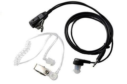 イヤホンマイク エアーチューブ式 3.5mm クリップ付 SP SWAT シークレットサービス 電磁波低減