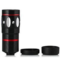 4in1カメラレンズキットクリップ式望遠レンズマクロレンズワイドレンズ魚眼レンズiPhone6iPhone6PlusiPhone5siPadAndroid対応