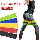 トレーニングチューブおすすめ筋トレ高強度5本セット負荷トレーニング背筋脚トレ女性