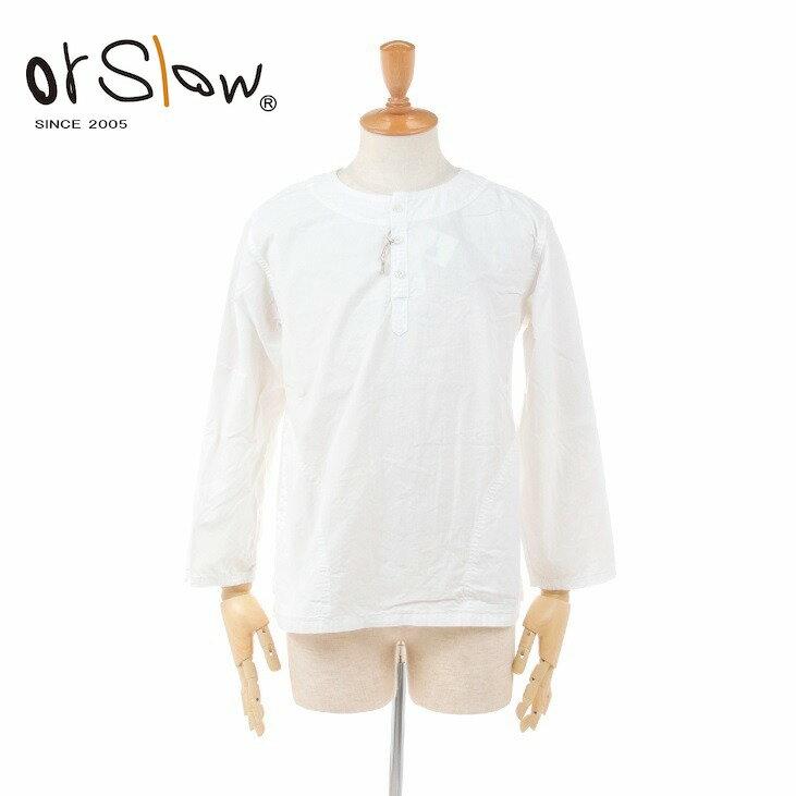 トップス, カジュアルシャツ 2021ss10 Orslow WHITE CHAMBRAY PULLOVER SHIRT 03-8044