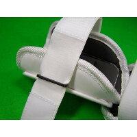 ベルガードBELGARD学生野球対応プロ仕様合皮巻きタイプアームガードホワイトAL811(エルボーガード)