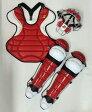 送料無料 ベルガード BELGARD ソフトボール用 キャッチャーセット オーダーカラー 4点セット レッド×ホワイト×ブラック 収容バッグ付き