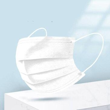マスク 在庫あり 50枚 箱 使い捨て 不織布 非日本製 白 BFE99%、CE認証済。新型コロナ ウィルス 飛沫対策 感染症 風邪対策 PM2.5対応 花粉 ハウスダスト 上記99%以上カット大人用 男女兼用 通気性 超快適