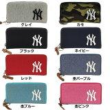 あす楽 イーカム MLB 長財布 ニューヨークヤンキース 杢調 YK-WLT01