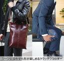 y52 youta/ヨータ イントレA4 薄マチ ショルダーバッグ メンズ ビジネスバッグ ブリーフケース レザー ipad 縦型メンズバッグ
