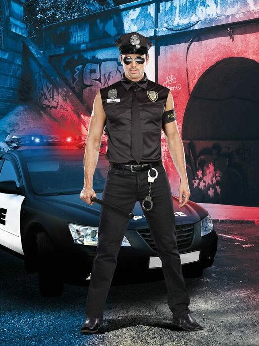 汚職警官ED BANGERのコスチューム6点セット イベント仮装コスチューム コスプレ ・ハロウィン・大人男性用【】