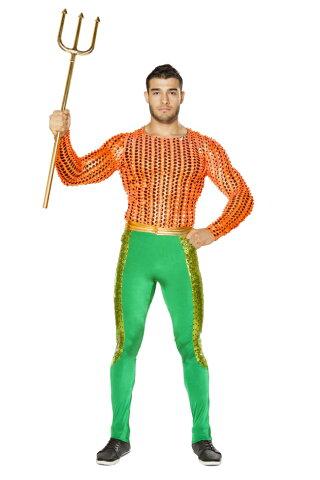 海の防衛者のコスチューム2点セット Roma Costumeローマコスチューム コスプレ衣装 (二次会、結婚式、仮装、パーティー、宴会、ハロウィン) 男性 大人用