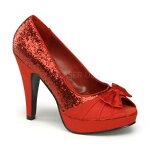 BETTIE-104.5インチ(約11.5cm)ハイヒールパンプスサテン/Pleaserプリーザーレトロな靴パーティーシンデレラサイズ大きい【送料無料】