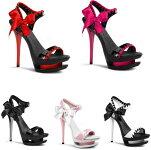 BLONDIE-6156インチ(約15cm)ハイヒールピンヒールミュールサンダル/Pleaserプリーザーパーティードレス靴大きいサイズ【送料無料】