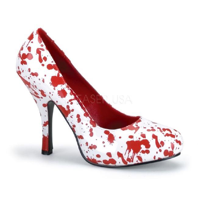 BLOODY-12 パンプス 5インチ(約12.5cm)ハイヒール 血まみれ コスチュームゾンビ /Pleaserプリーザー コスプレ靴 ハロウィン 仮装 大きい画像