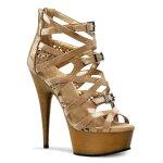 DELIGHT-600-106インチ(約15cm)ハイヒールピンヒールミュールサンダル/Pleaserプリーザーパーティードレス靴大きいサイズ【送料無料】