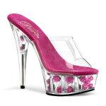 DELIGHT-601FL6インチ(約15cm)ハイヒールピンヒールミュールサンダル/Pleaserプリーザーパーティードレス靴大きいサイズ【送料無料】