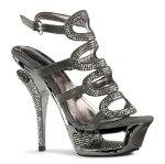 DELUXE-634RS5.5インチ(約14cm)ハイヒールミュールサンダル/PleaserプリーザーDay&Nightパーティー靴シンデレラサイズ大きい【送料無料】