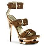 FASCINATE-6526インチ(約15cm)ハイヒールミュールサンダル/PleaserプリーザーDay&Nightパーティー靴シンデレラサイズ大きい【送料無料】