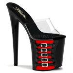 FLAMINGO-801FH58インチ(約20cm)ハイヒールピンヒールミュール厚底サンダル/Pleaserプリーザーパーティードレス靴大きいサイズ【送料無料】