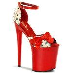 FLAMINGO-8758インチ(約20cm)ハイヒールピンヒールミュール厚底サンダル/Pleaserプリーザーパーティードレス靴大きいサイズ【送料無料】