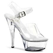 KISS-208DAS6インチ(約15cm)ハイヒールピンヒールミュール厚底サンダル/Pleaserプリーザーパーティードレス靴大きいサイズ【送料無料】