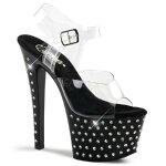 STARDUST-7087インチ(約18cm)ハイヒールピンヒールミュールサンダル/Pleaserプリーザーパーティードレス靴【送料無料】