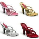 SIREN-02R4インチ(約10cm)ハイヒールサンダル/PleaserプリーザーBORDELLOパーティードレス靴大きいサイズ【送料無料】