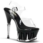 SPIKY-6086.5インチ(約16.5cm)ハイヒールピンヒールミュール厚底サンダル/Pleaserプリーザーパーティードレス靴大きいサイズ【送料無料】