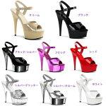 DELIGHT-6096インチ(約15cm)ハイヒールミュールサンダル/Pleaserプリーザーパーティー靴シンデレラサイズ大きい【送料無料】