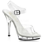 LIP-1085インチ(約12.5cm)ハイヒールミュールクリアサンダル/PleaserプリーザーFABULICIOUSパーティー靴大きいシンデレラサイズ【送料無料】