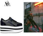 KARAZIIMESH【全2色】約5cmヒールメガプラットフォーム厚底靴スニーカー/YRUワイアールユーインポートシューズ【サイズ交換1回OK】【送料無料】