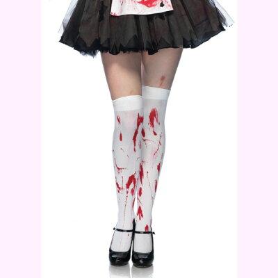 LEG AVENUE コス 衣装血だらけゾンビコスチューム用 サイハイストッキング コスチューム コ...