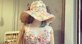 お花フラワーハンドメイドリゾート帽子レディースインポートフリーサイズ/ChuanPisamaiチュアンピサマイ【送料無料】