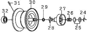 ●ダイワT3SV8.1L-TW(4960652915397)用純正標準スプール(部品コード129553)【キャンセル及び返品不可商品】【まとめ送料割】
