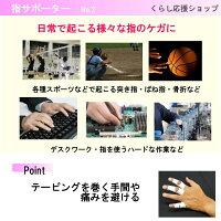 【送料無料】指サポーターばね指突き指腱鞘炎関節痛でお悩みの方へ2本指連結固定人差し指中指薬指小指(黒)